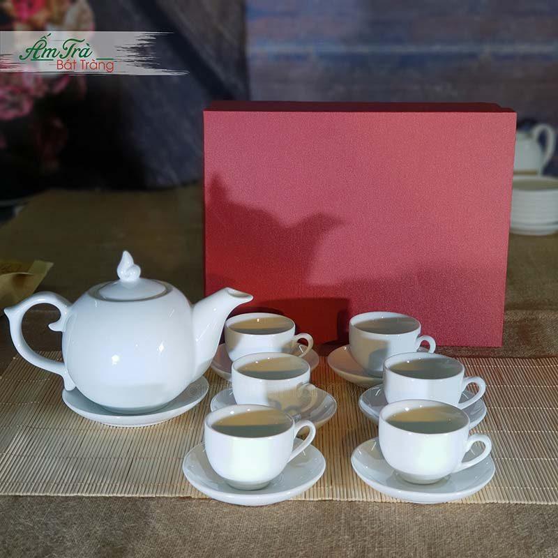 Bộ trà bưởi lửa Bát Tràng