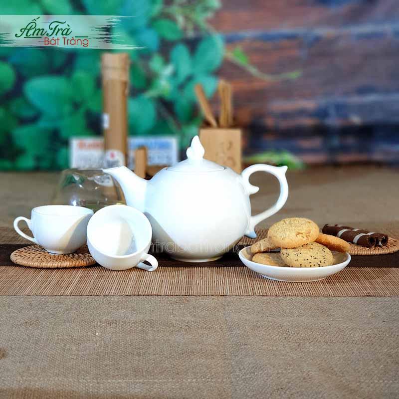 Bộ ấm trà bưởi lửa tuyệt đẹp