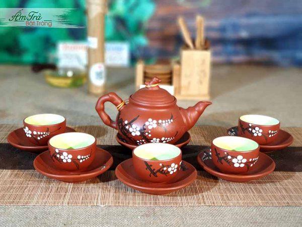 Bộ trà vẽ đào tuyệt đẹp