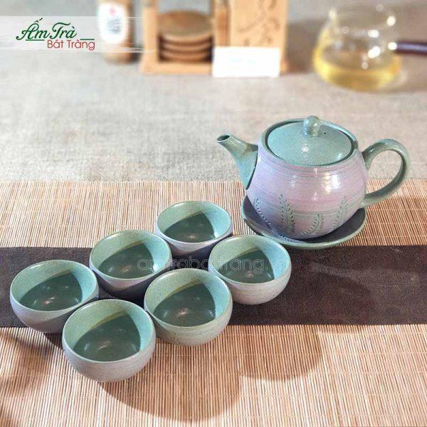 Bộ trà Hồng Sa Bát Tràng tuyệt đẹp