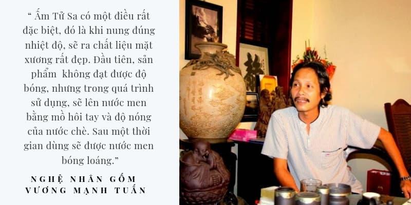 Nghệ nhân Vương Mạnh Tuấn nói về ấm Tử Sa