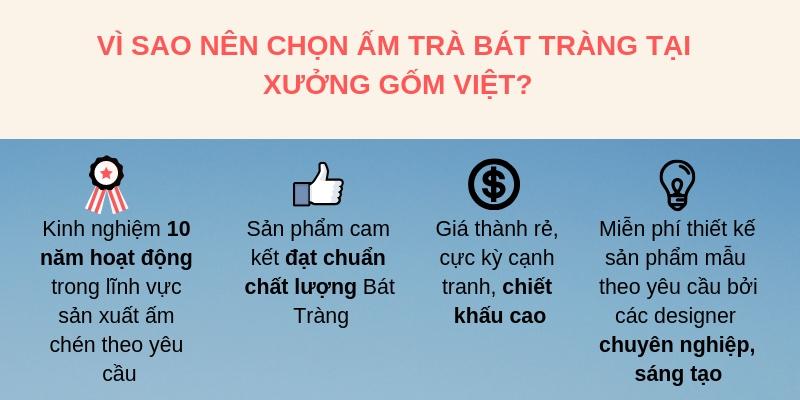 4 ưu điểm vàng của Xưởng gốm Việt