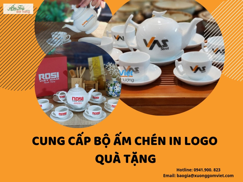 ấm trà in logo giá rẻ