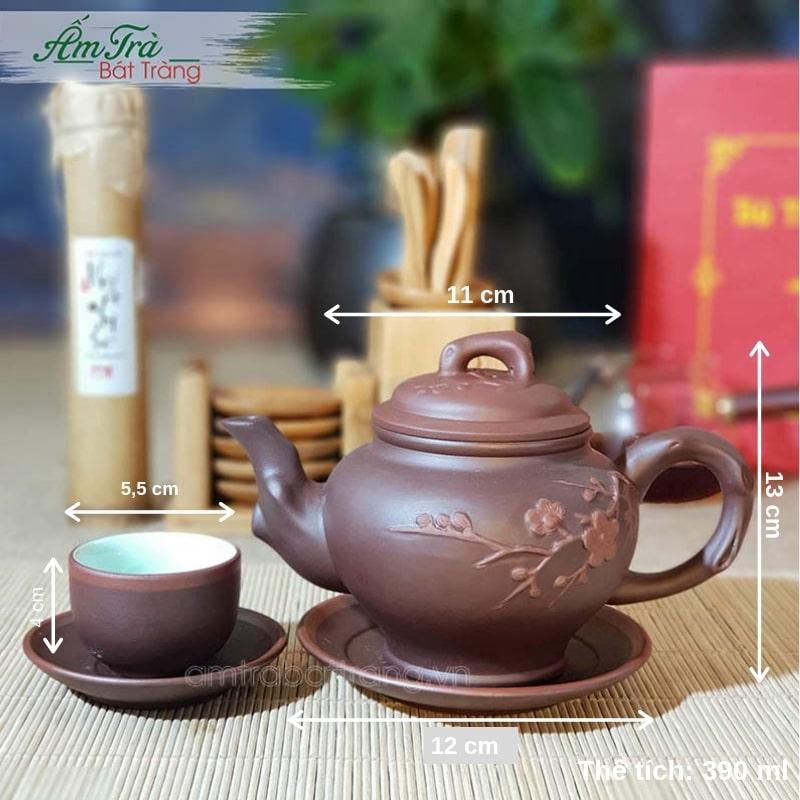 Thông số kỹ thuật cơ bản của bộ trà Tử sa không bọc đồng