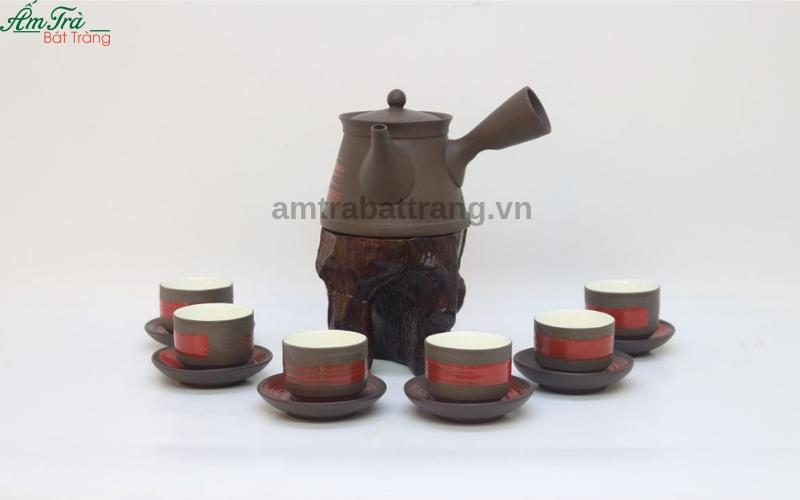 Bộ trà Hồng sa quẹt đỏ