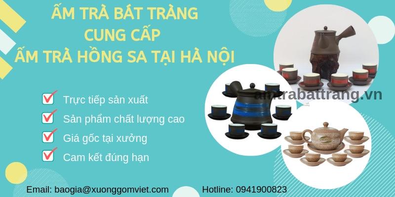 Cung cấp ấm trà Hồng Sa tại Hà Nội