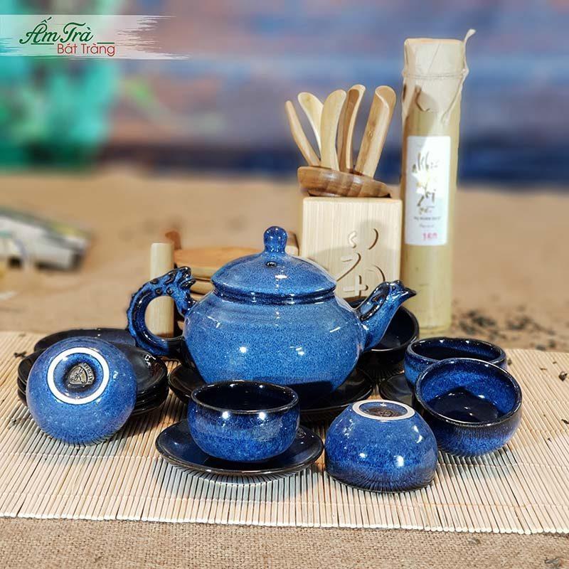 Bộ ấm trà Bát Tràng tuyệt đẹp