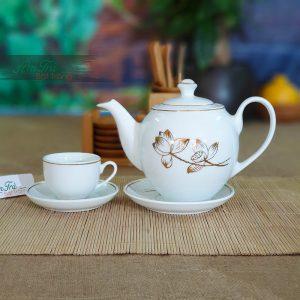 Bộ trà sen vàng AT-07