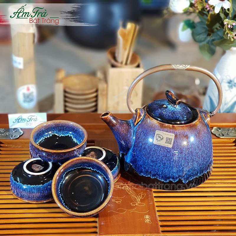 Bộ trà men hỏa biến cao cấp