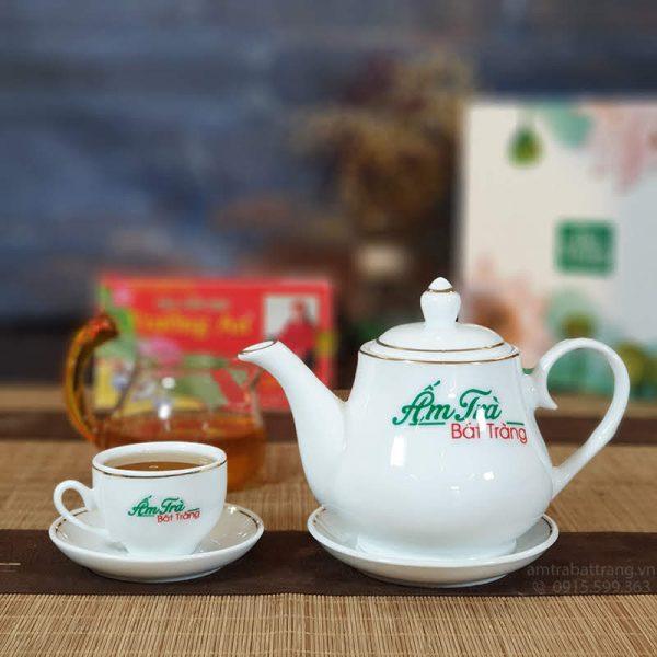 Bộ trà Đức trắng viền kim AT-23
