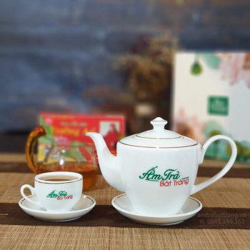 Bộ trà Daisy viền kim AT-16