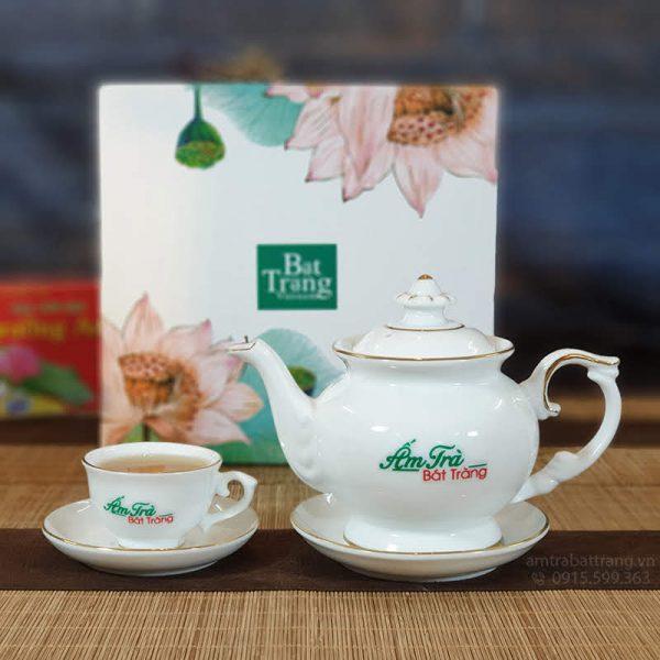 Bộ trà nút hoa chỉ vàng