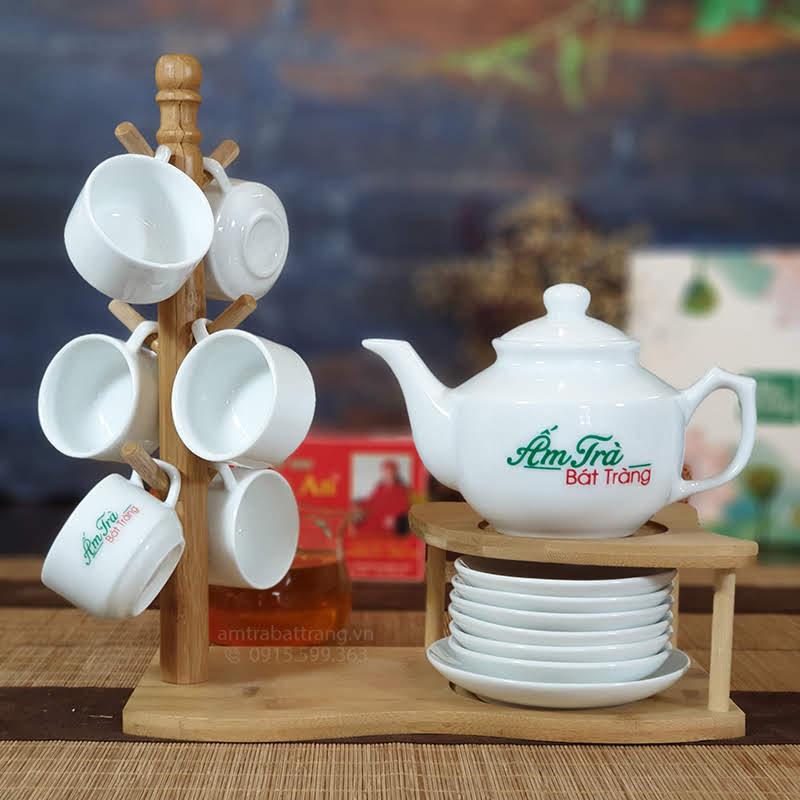 Bộ trà sứ vuông thấp AT-05