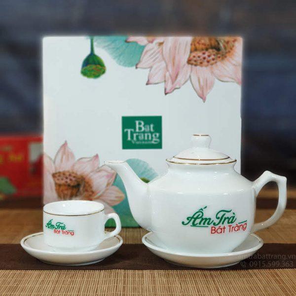 Bộ trà Hong Kong viền kim AT-15
