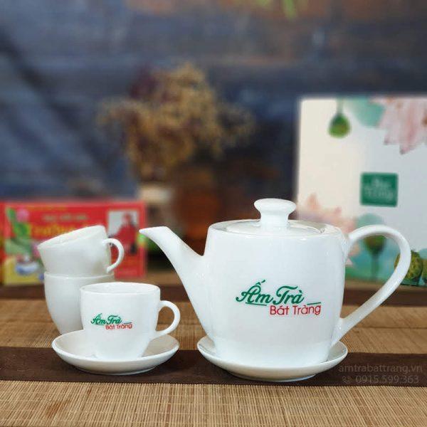 Bộ trà trắng dáng thùng AT-25